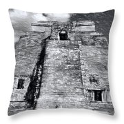 Uxmal Drawing Throw Pillow