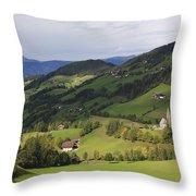 Val Di Funes Dolomites Italy Throw Pillow