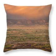 Valley Sunset Throw Pillow