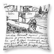 Van Gogh Letter, 1888 Throw Pillow