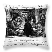 Van Gogh Letter Throw Pillow