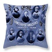 Vancouver Amazons Women's Hockey Team 1921 Throw Pillow
