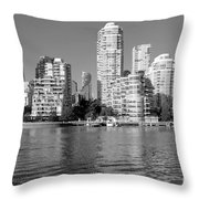 Vancouver Bc Downtown Skyline Throw Pillow