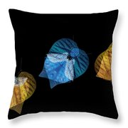Variations On A Leaf Throw Pillow
