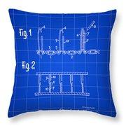 Velcro Patent 1952 - Blue Throw Pillow