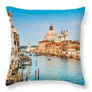 Venice At Sunset Throw Pillow