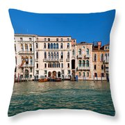 Venice Grand Canal View Italy Throw Pillow