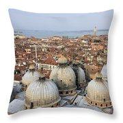 Terracotta Skyline Venice Italy Throw Pillow