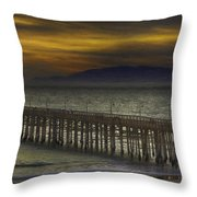 Ventura Pier Throw Pillow