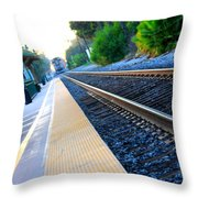 Ventura Train Station Throw Pillow