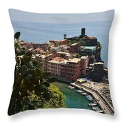 Vernazza - Cinque Terre Throw Pillow