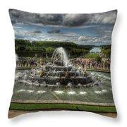 Versailles Fountain Throw Pillow