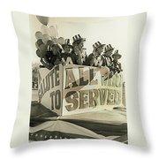 Veteran's Day Parade University Of Arizona Tucson Arizona Black And White Toned Throw Pillow