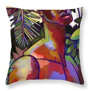 African Forest Throw Pillow