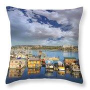 Victoria Bc Fishermans Wharf Throw Pillow