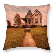 Victorian House Throw Pillow