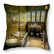 Victorian Wash Room Throw Pillow