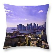 View From Dumbo Throw Pillow