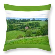 View From Glastonbury Tor Throw Pillow