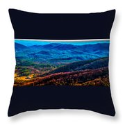 View From Table Rock Mountain Throw Pillow
