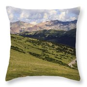 view from the Trail Ridge Road. Throw Pillow