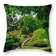 View Of A Japanese Garden Throw Pillow