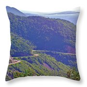 View Of Highlands Road From Skyline Trail In Cape Breton Highlands Np-ns Throw Pillow