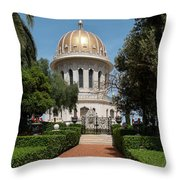 View Of Terraces Of The Shrine Throw Pillow