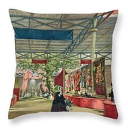 View Of The India Section Of The Great Throw Pillow
