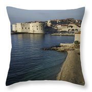 Views Of Dubrovnik Old Town Croatia Throw Pillow