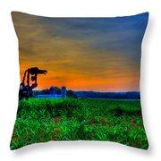 Vigilant- The Iron Horse Throw Pillow