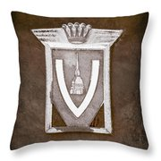 Vignale Emblem Throw Pillow