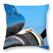 Vintage Airplane Throw Pillow