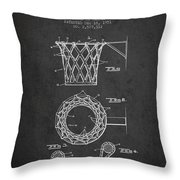 Vintage Basketball Goal Patent From 1951 Throw Pillow