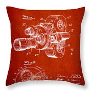 Vintage Camera Patent Drawing From 1938 Throw Pillow