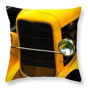 Vintage Car Yellow Detail Throw Pillow