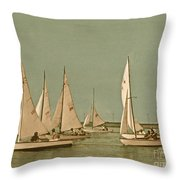 Vintage Comet Race  Throw Pillow