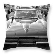 Vintage Corvette Throw Pillow