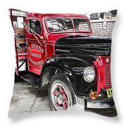 Vintage International Truck Throw Pillow by Douglas Barnard