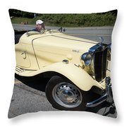 Vintage Mg Throw Pillow