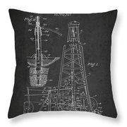 Vintage Oil Drilling Rig Patent From 1911 Throw Pillow