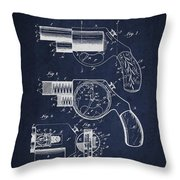 Vintage Pistol Patent From 1892 Throw Pillow