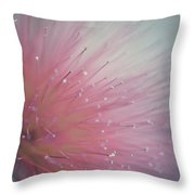 Vintage Red Flower Throw Pillow