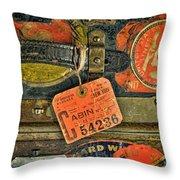 Vintage Steamer Trunk Throw Pillow