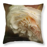 Vintage Tea Rose Throw Pillow