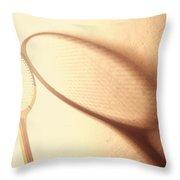 Vintage Tennis Racket Throw Pillow