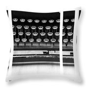 Vintage Typewriter Throw Pillow