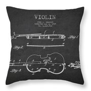 Vintage Violin Patent Drawing From 1928 Throw Pillow