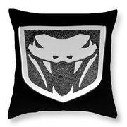 Viper Emblem Throw Pillow
