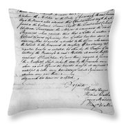 Virginia Council Of State Throw Pillow